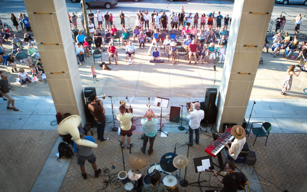 Renowned Percussion Group Drumplay Takes Stage at Front Porch Concert Series This Friday, August 23