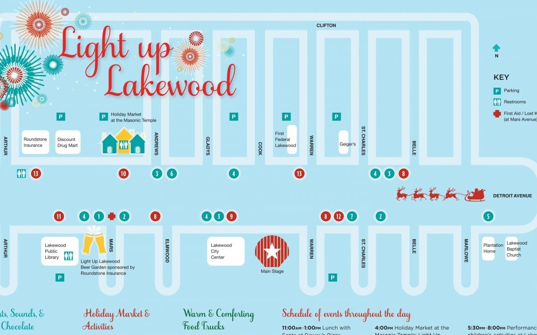 A Beginner's Guide to Attending Light Up Lakewood 2019